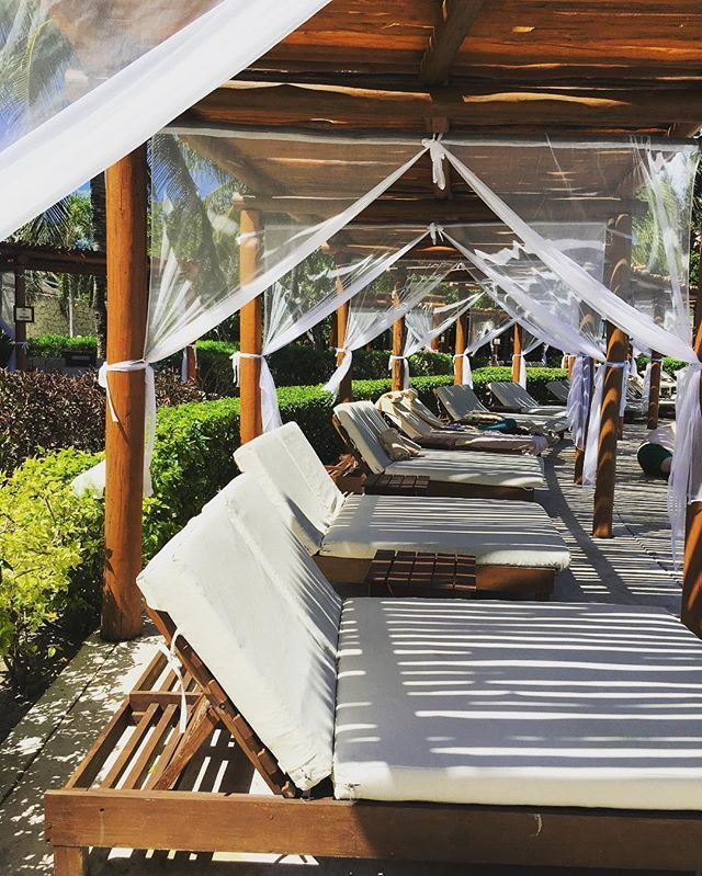 Poolside beds at the Valentin Imperial Maya & Poolside beds at the Valentin Imperial Maya | TripSurferVacations ...