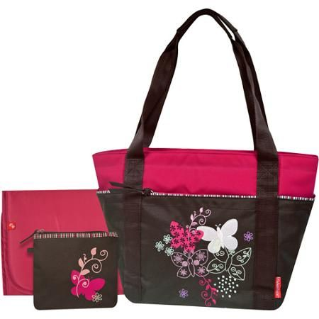 Fisher-Price Butterfly Tote Diaper Bag in Mocha. #diaperbagblog