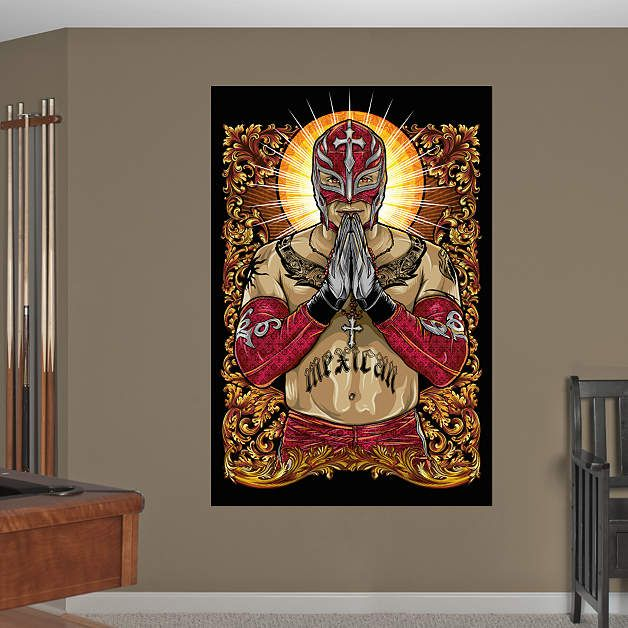 Rey Mysterio Illustration Mural Fathead Wall Decal NBA and NFL and