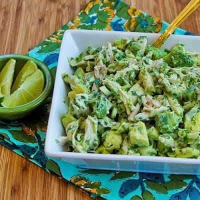 Chicken Avocado Salad with Cilantro and Lime