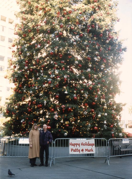 Good Christmas Tree Producers Part - 13: Christmas In San Francisco - San Diego Video Producers Patty And Mark Pose  Next To The