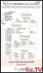 Honeymoon Packing List PDF Printable   Honeymoon C #Checklist #honeymoon #Honeym...,  #Checklist #Honeym #Honeymoon #Honeymoonchecklist #List #Packing #PDF #Printable