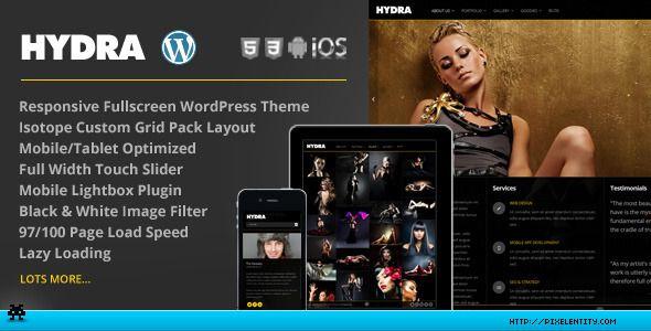 Hydra - Fullscreen Portfolio Grid WordPress Theme | Responsive ...