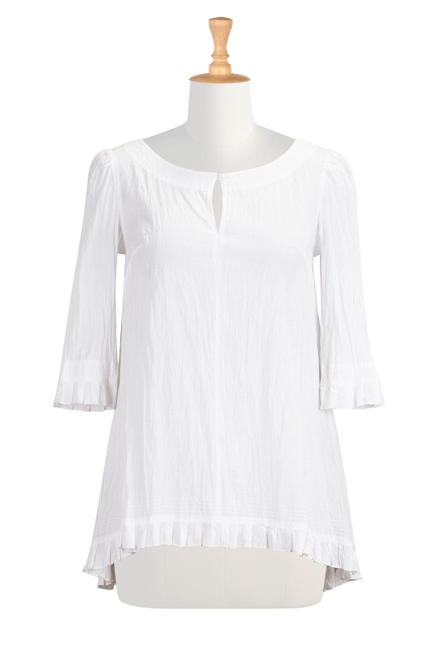 01d5059a4239b White Cotton Crinkle Tops