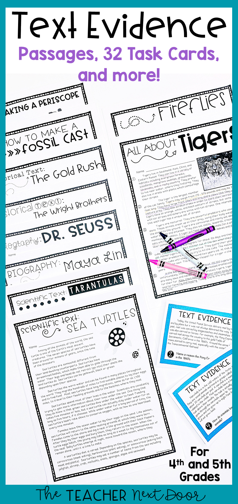 Text Evidence For 4th And 5th Grades Text Evidence Text Evidence Activities Informational Text [ 1728 x 816 Pixel ]