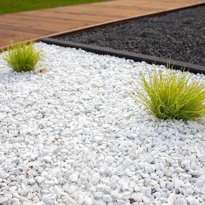 Marmolina Grava Blanca Pura Entrega En Toda La Peninsula Piedras Decorativas Para Jardin Patio Con Piedras Jardin Piedras Blancas