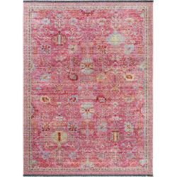 Photo of benuta Trends Flachgewebeteppich Ian Multicolor/Pink 200×240 cm – Vintage Teppich im Used-Lookbenuta