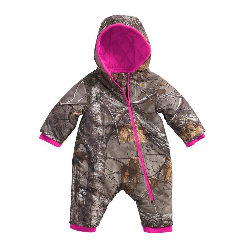 bedd4bdfb35a Carhartt Baby Girls  Camo Snowsuit QULT Taff Lined
