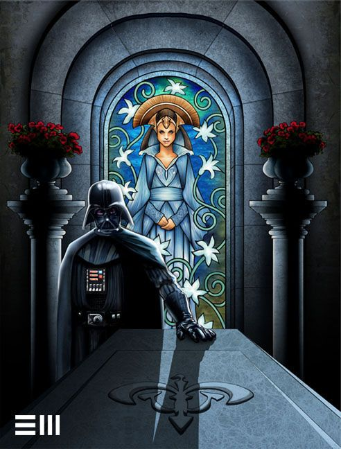 397d7e14 Darth Vader Visits the Tomb of Padme by Erik Maell. I don't want to think of  Vader grieving and crying and being all Anakin-ee, but this is lovely.
