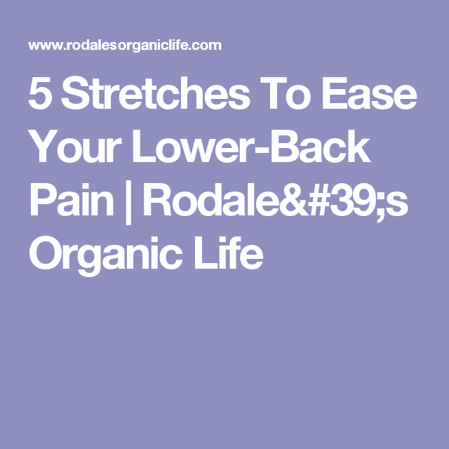 5 Stretches To Ease Your Lower-Back Pain | Rodale's Organic Life