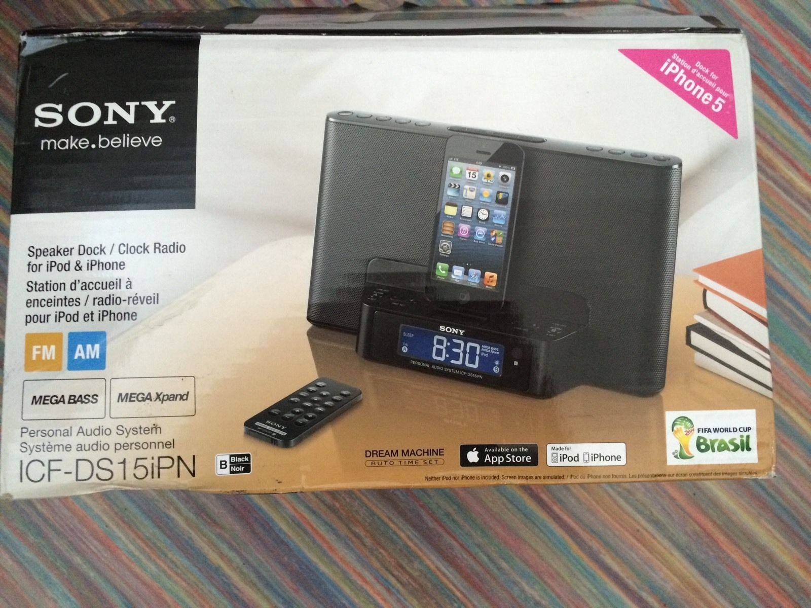 Sony ICF-DS15ipn docking station - iPhone 5s and up - lightening ...