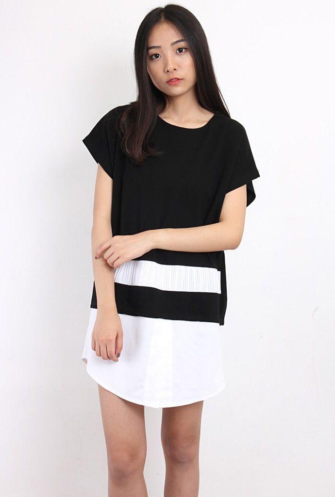 Shirt Hem Oversized Dress