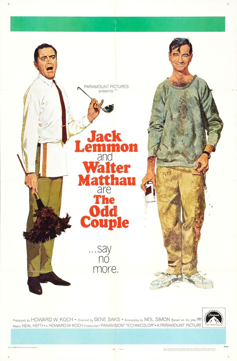 Robert McGinnis The Odd Couple (With images) Walter