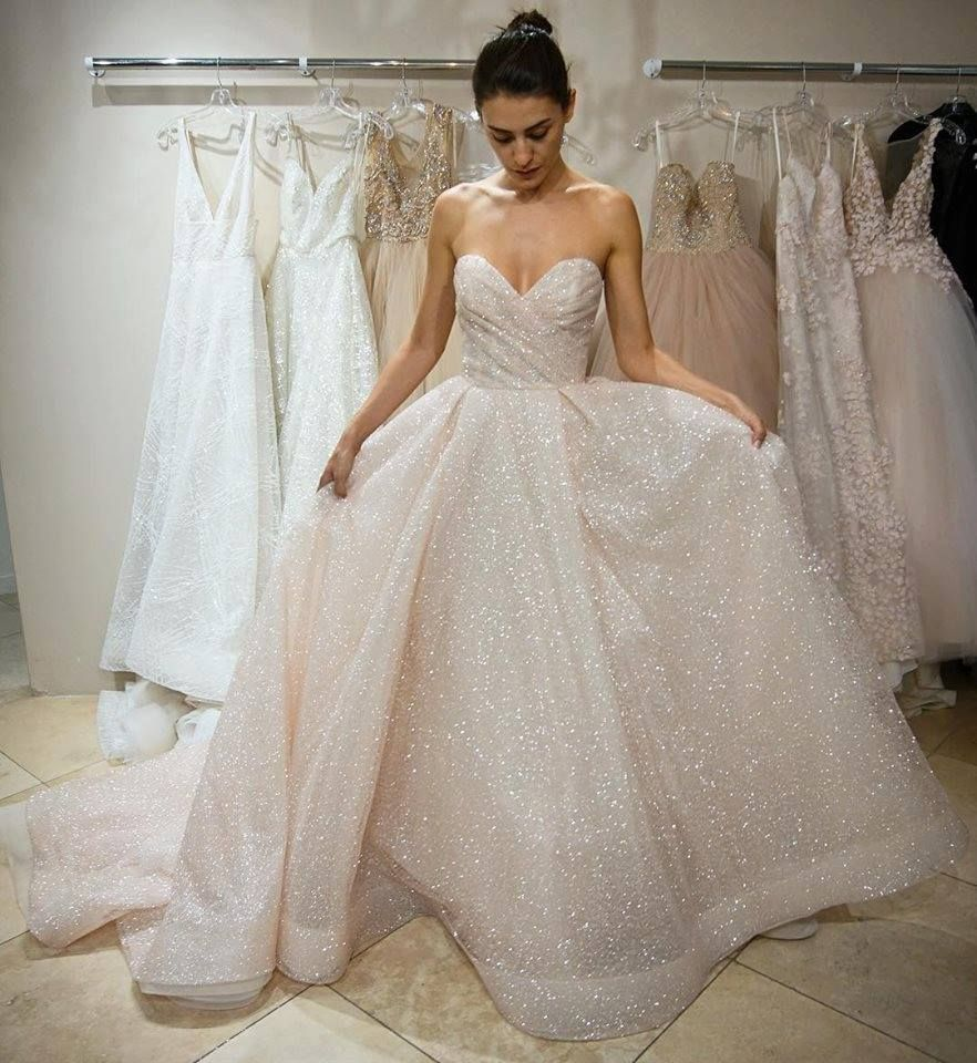 Lazaro Sparkly Ball Gown For Your Princess Look On Your Big Day