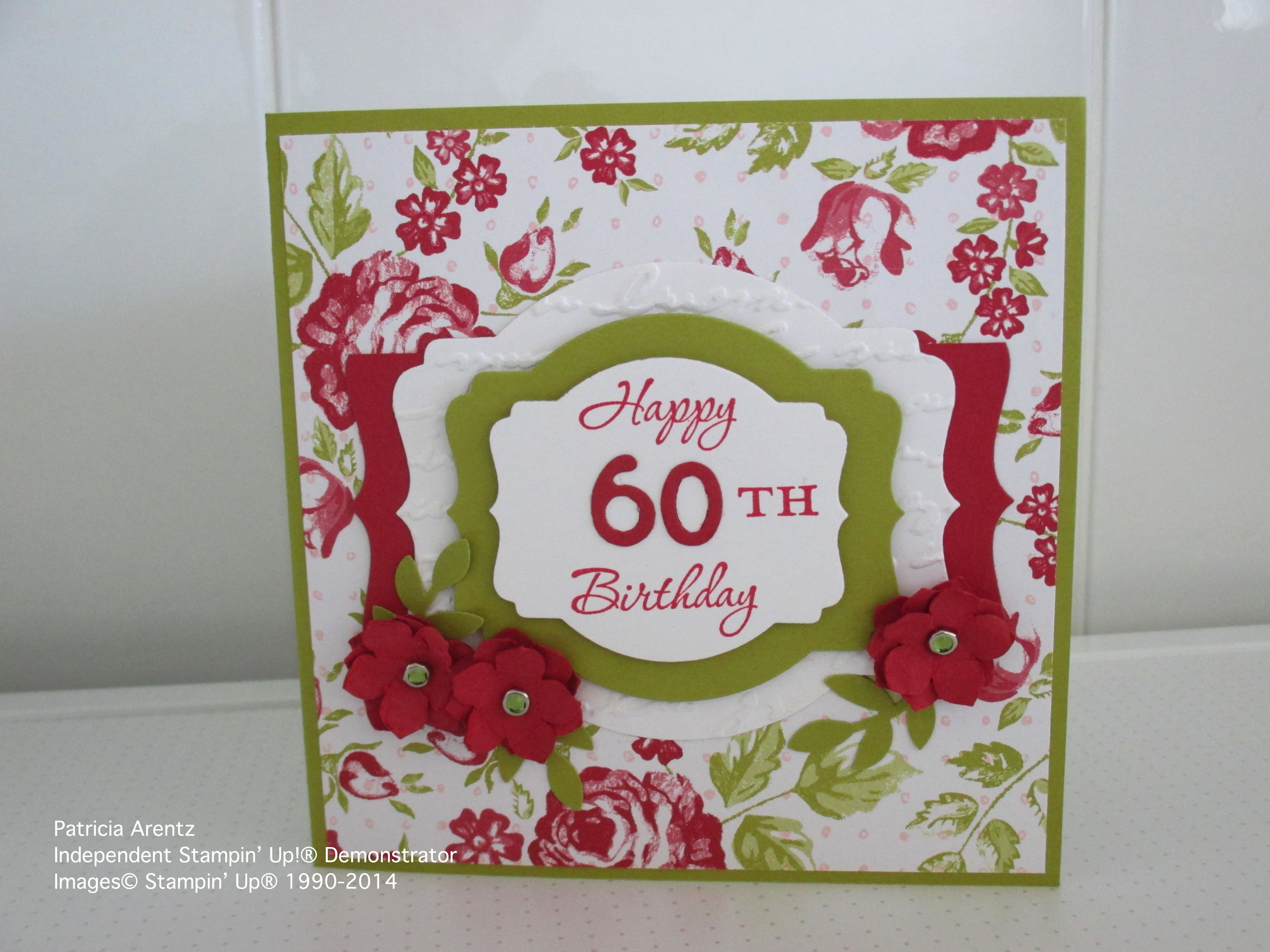 Th birthday card using stampinu up memorable moments stamp set