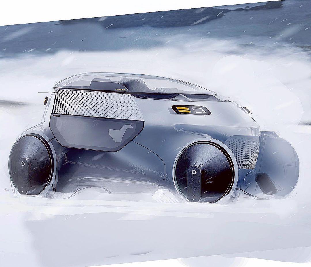 JORDAN GENDLER on Instagram: Arctic taxi? . . . #cars #car #cardesign #cardesigner #cardesignworld #cardesigndaily #cardesigncommunity #sketch #photoshop #doodle