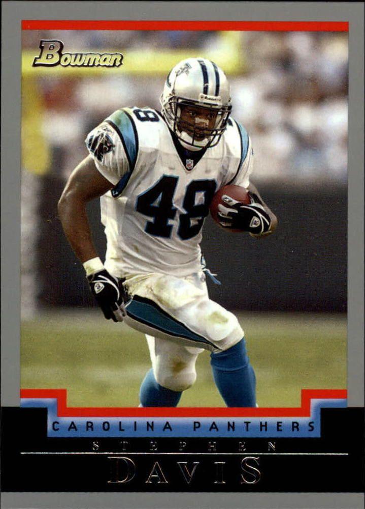 2004 Bowman Carolina Panthers Football Card #55 Stephen Davis