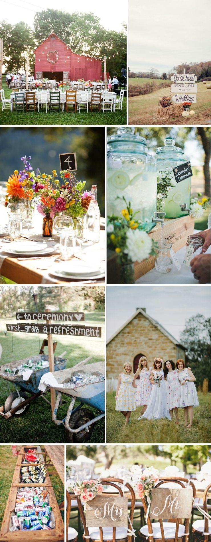 Des idées pour un mariage champêtre blog mariage