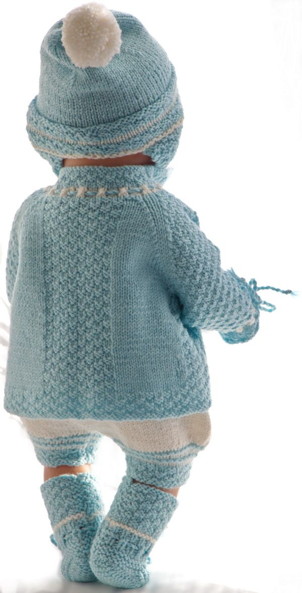 Puppenjacke stricken | Doll-knitting-patterns from Malfrid Gausel ...