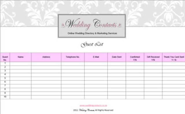 Use These Free Wedding Templates to Create Your Guest List Wedding - wedding spreadsheet google docs