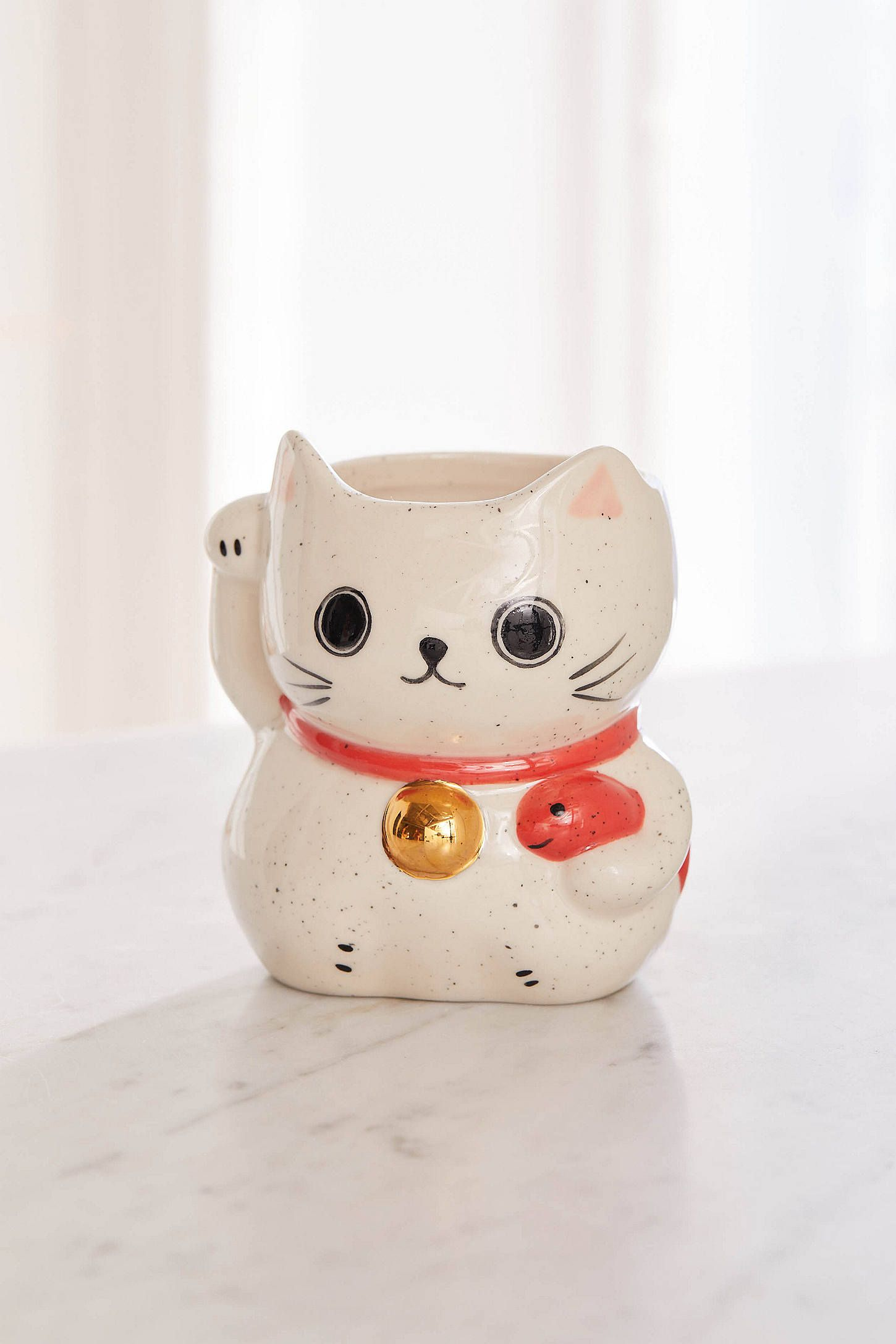 Urban Outfitters Lucky Cat Shaped Mug In 2020 Mugs Cat