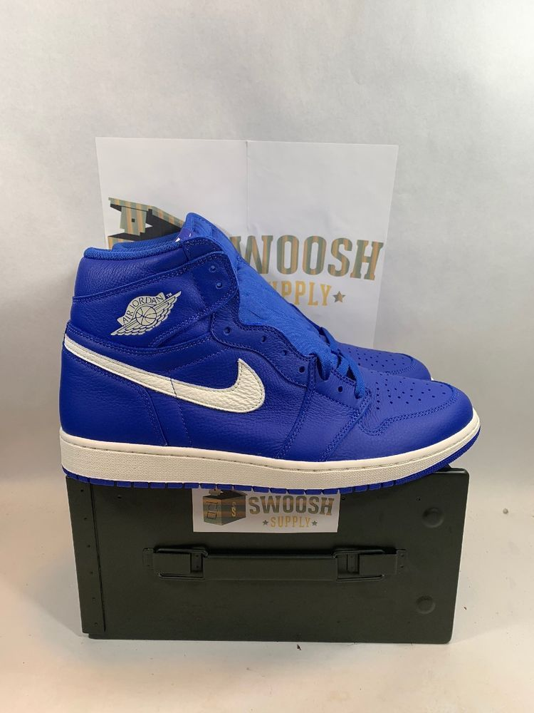 d732a812c66657 Nike Air Jordan 1 Retro High OG Hyper Royal Sail Blue White 555088 401 Size  13  Jordan  BasketballShoes