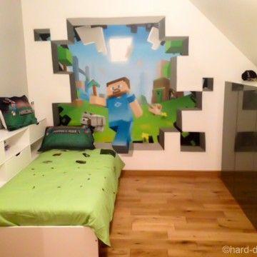 Deco Minecraft Peinture Mur Enfant Déco Chambre Ado