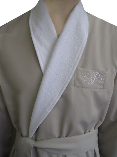 RUSH SHIP PERSONALIZED Black or White Luxury Velour Terry Hotel Robe; His and Hers Wedding Robes; King and Queen Robe; Monogrammed Robes