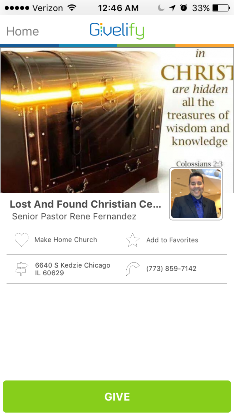 Lost and Found Christian Center in Chicago, Illinois