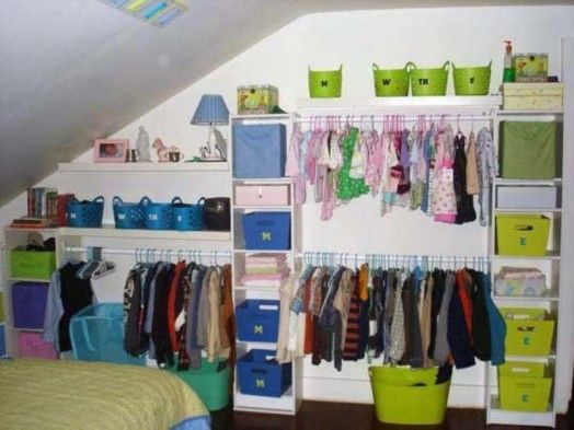 23 Brilliant Storage Solutions For Kids Rooms Without A Closet Kidsom Small Closet Organization Cheap Closet Organization Cheap No Closet Solutions