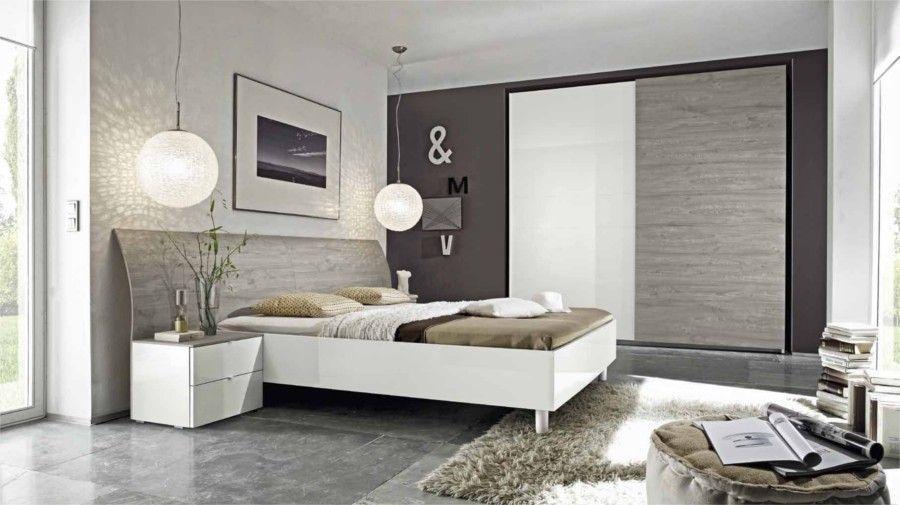 camera da letto moderna rovere grigio e bianco laccato lucido ... - Camera Da Letto Bianca E Tortora