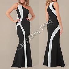 Abendkleid Maxikleid Stretch Damen Kleid ärmellos One ...
