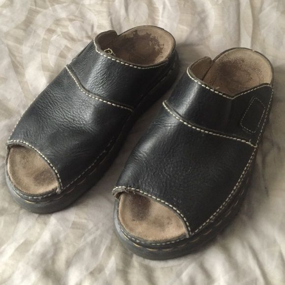 Dr. Marten sandals Dr. Marten sandals. Vintage. MADE IN ENGLAND. Dark brown leather. U.K. Size 8. In good condition and still have lots of life left. Smoke free pet friendly home. Feel free to make a reasonable offer. Thanks for looking!  Dr. Martens Shoes Sandals