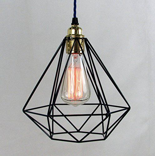 r tro style industriel luminaire lampe suspendue stle nordique cage m tallique 23cm the. Black Bedroom Furniture Sets. Home Design Ideas