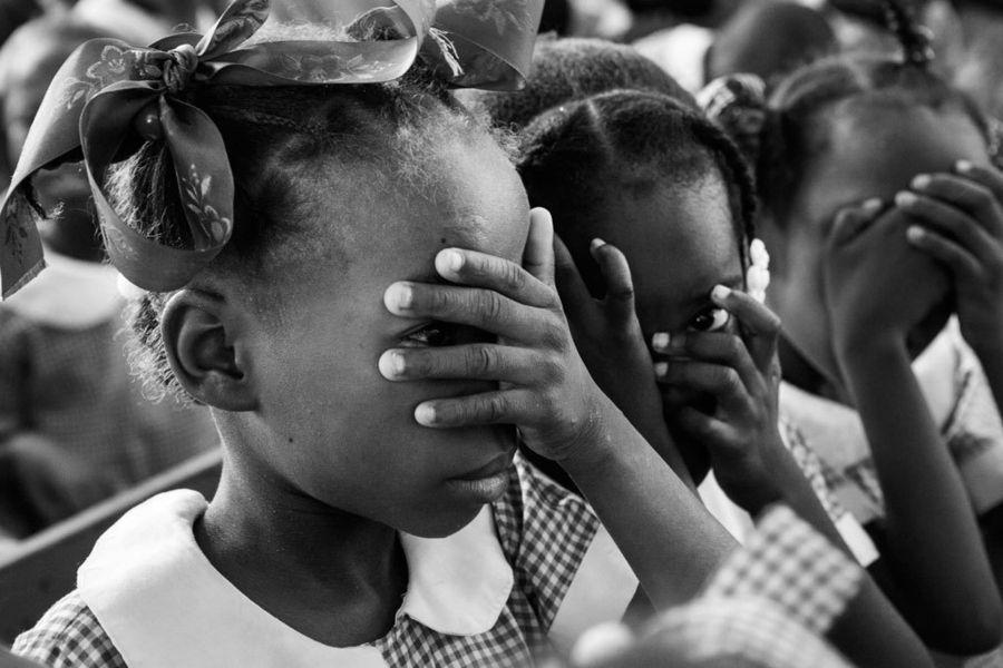 School girls in Haiti by John Palmer Gregg | School girl
