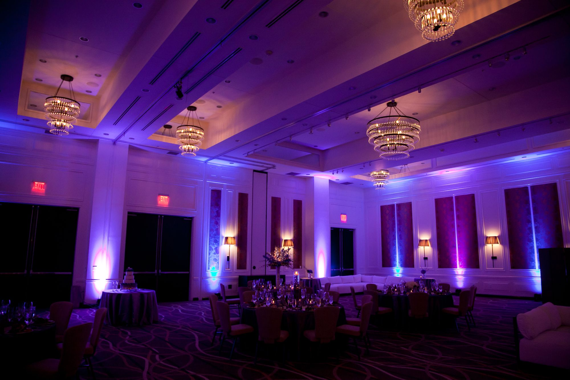 lighting makes a huge impact on your venue! | hutton hotel