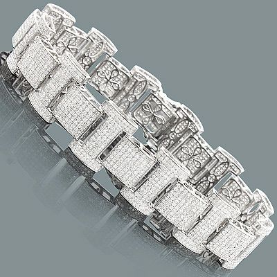 14KYellowGoldMensDiamondBracelet1454Ctw Mens Diamond