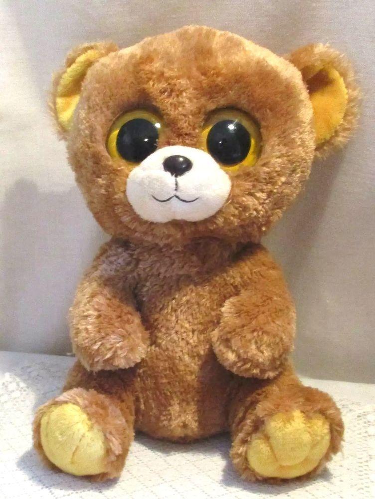 "2012 ty beanie boo bear – honey 9"" tall gold ears eyes feet retired ... 66e6200db93"