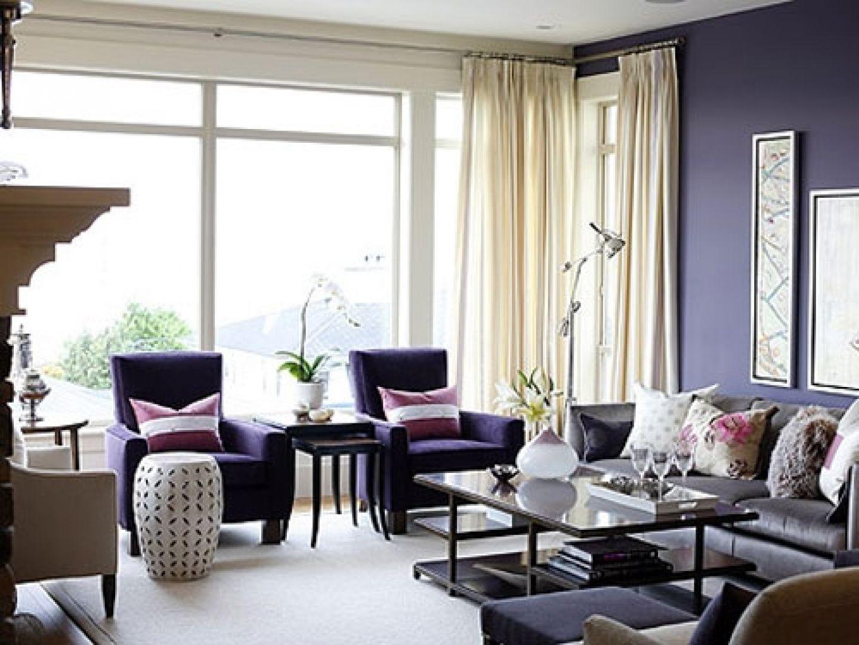 Exclusive Purple Living Room Inspiration Model And Arrangement Of ...