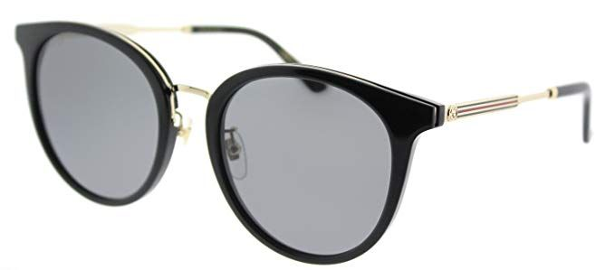 523e00ba07 Gucci GG 0204SK 001 Black Plastic Fashion Sunglasses Grey Lens Review