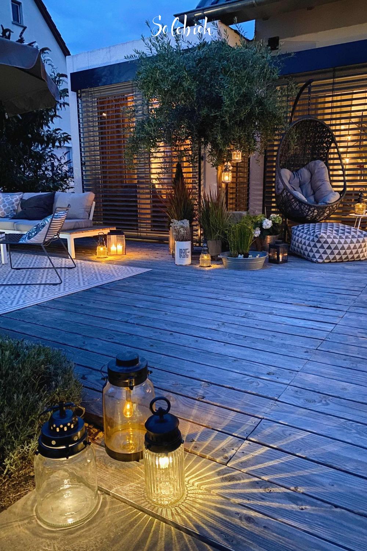 Die schönsten Ideen für den Garten & die Gartengestaltung Foto: Kerstin9183 #solebich #garten #windlichter #terrasse #abend #garden #lantern #terrace #evening