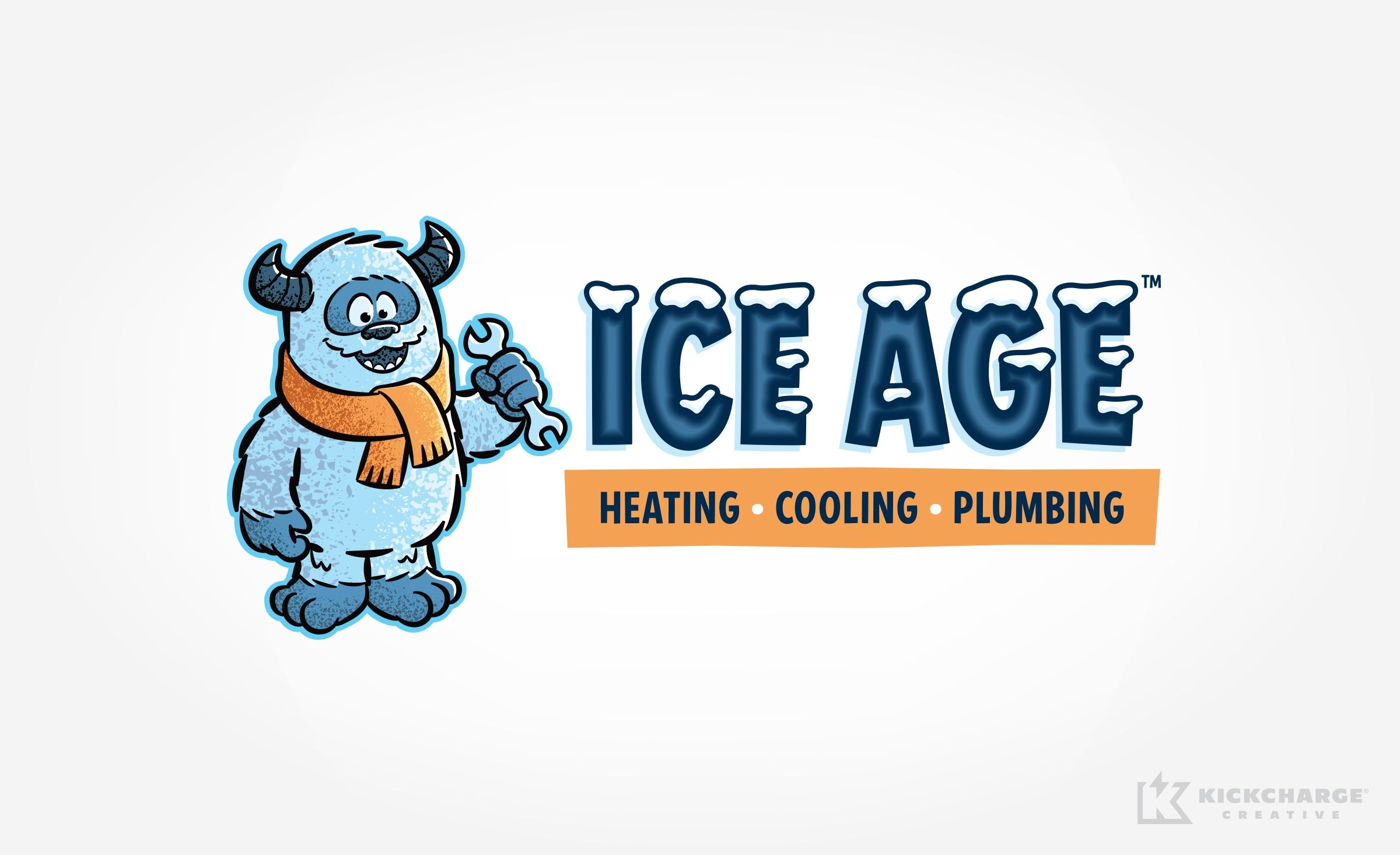 Logo Design For Ice Age Heating Cooling Plumbing A Contractor