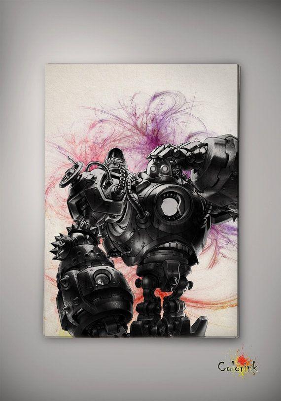 League of Legends LoL Blitzcrank Watercolor illustrations Print Wall ...