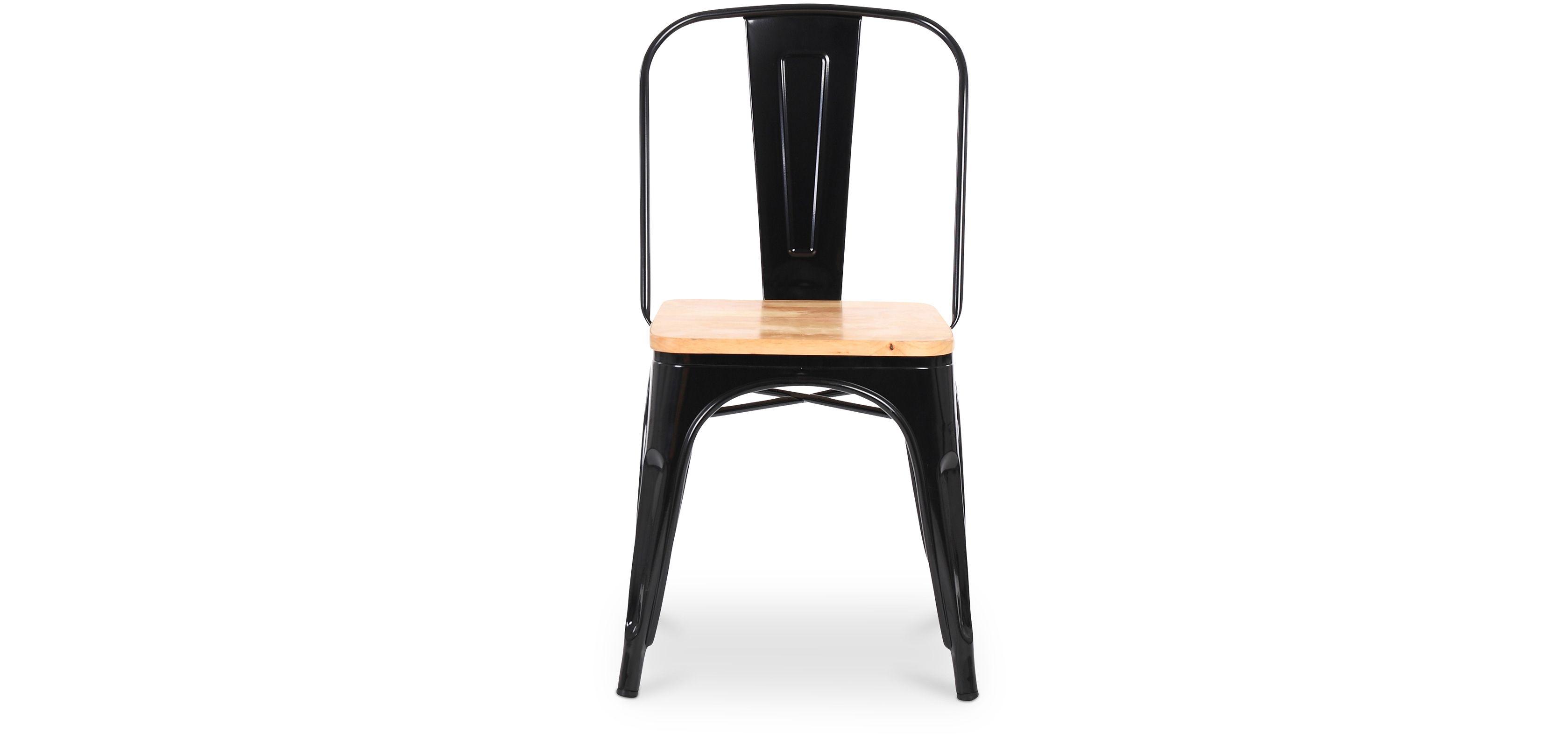 Chaise Tolix Assise Carrée en bois Xavier Pauchard Style - Métal