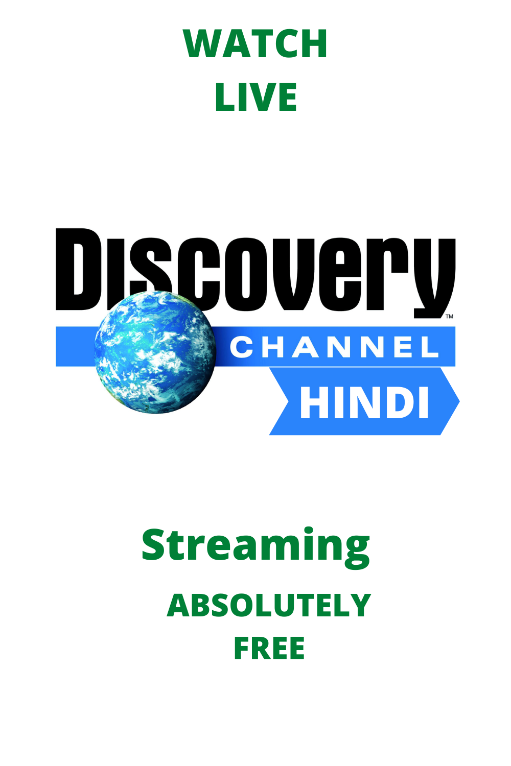 Watch Discovery Channel Hindi Live Streaming For Free In 2020 Discovery Channel Discovery Channel Shows Live Tv Free