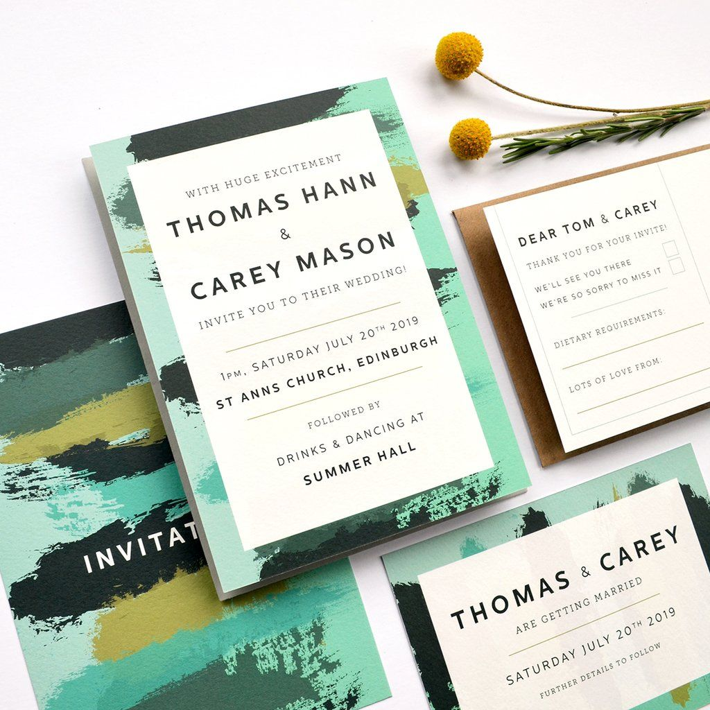 Personalised Wedding Invitation | Painter Painter | Dramatic Wedding ...