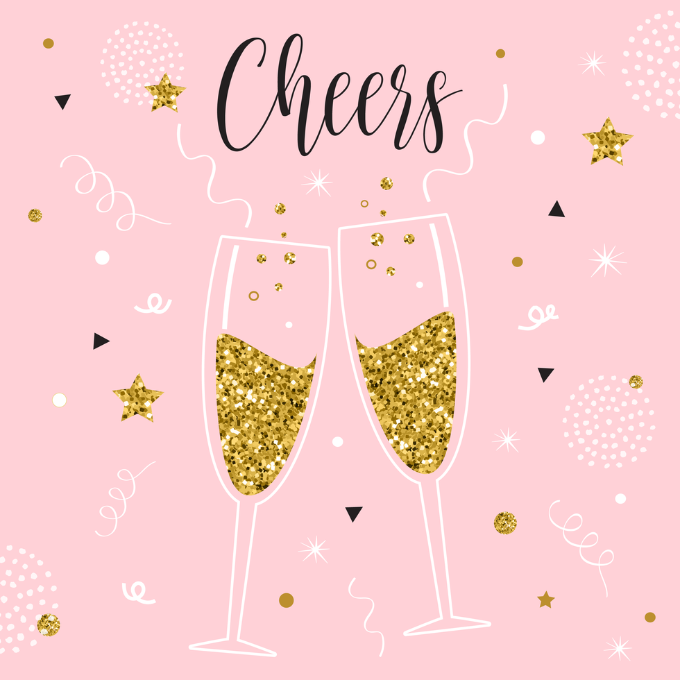 Champagne Toast Vector Illustration Vector Illustration Illustration Champagne Toast