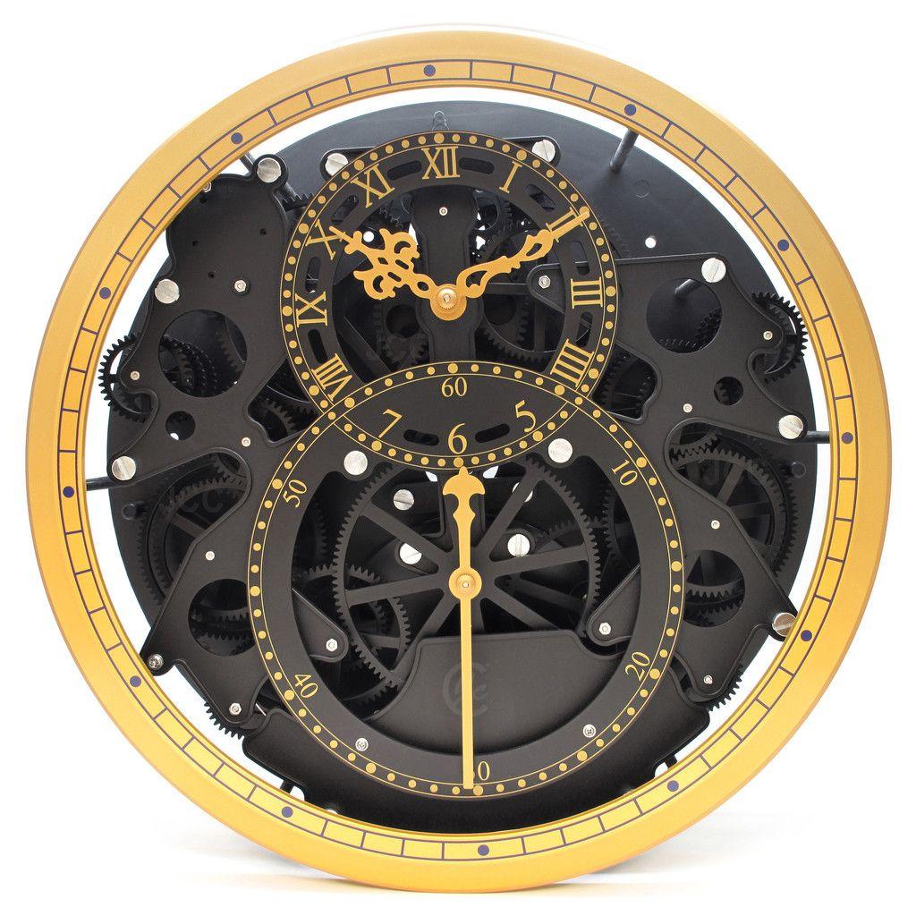 Jumbo Modern Moving Gear Wheel Wall Hanging Clock Hanging Clock Wall Clock With Moving Gears Clock