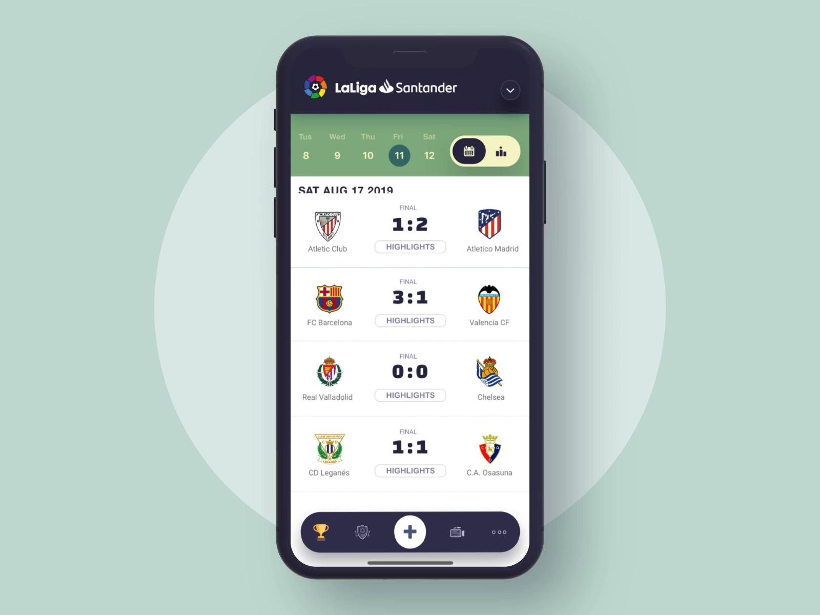 Soccer League Mobile App Animation By Dannniel Soccer League Mobile App Mobile App Design