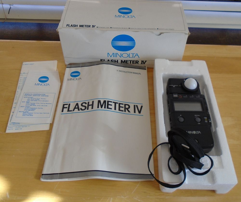minolta flash meter iv with instruction manual and original box rh pinterest com Minolta Auto Meter IV Manual Vintage Minolta Flash Meter